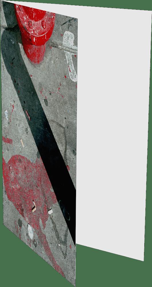 CLOSER NY HYDRANT BOTTOM ACNY2201 abstract photography Sherry Mills PRINT GREETING CARD 2