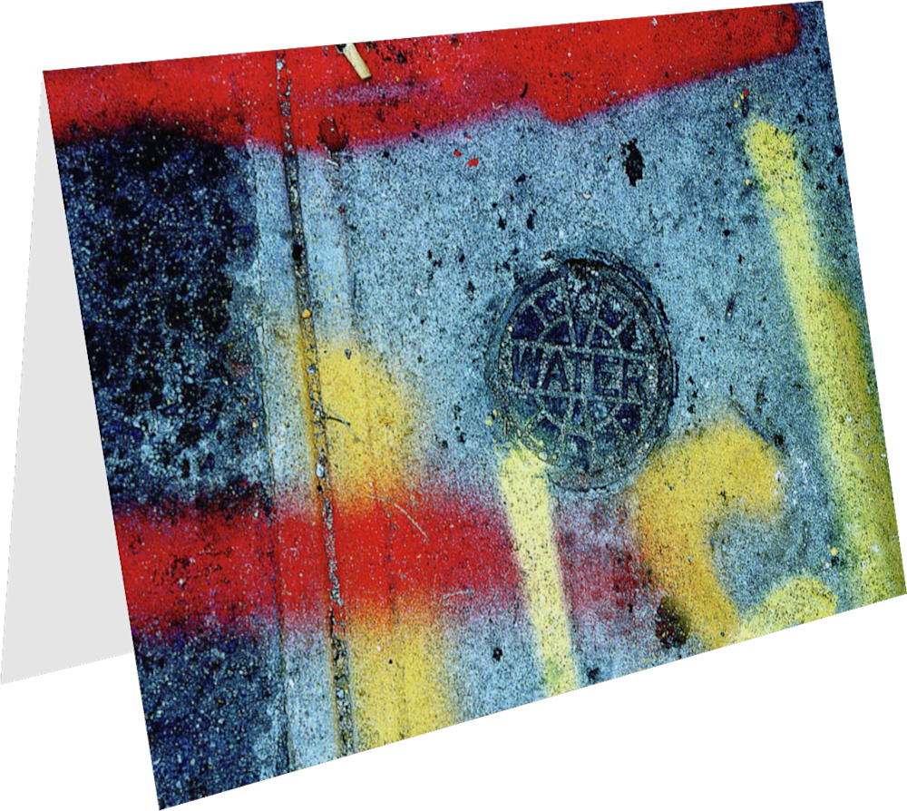 CLOSER NY WATERLINES ACNY034 abstract photography Sherry Mills PRINT 2 GREETING CARD 1
