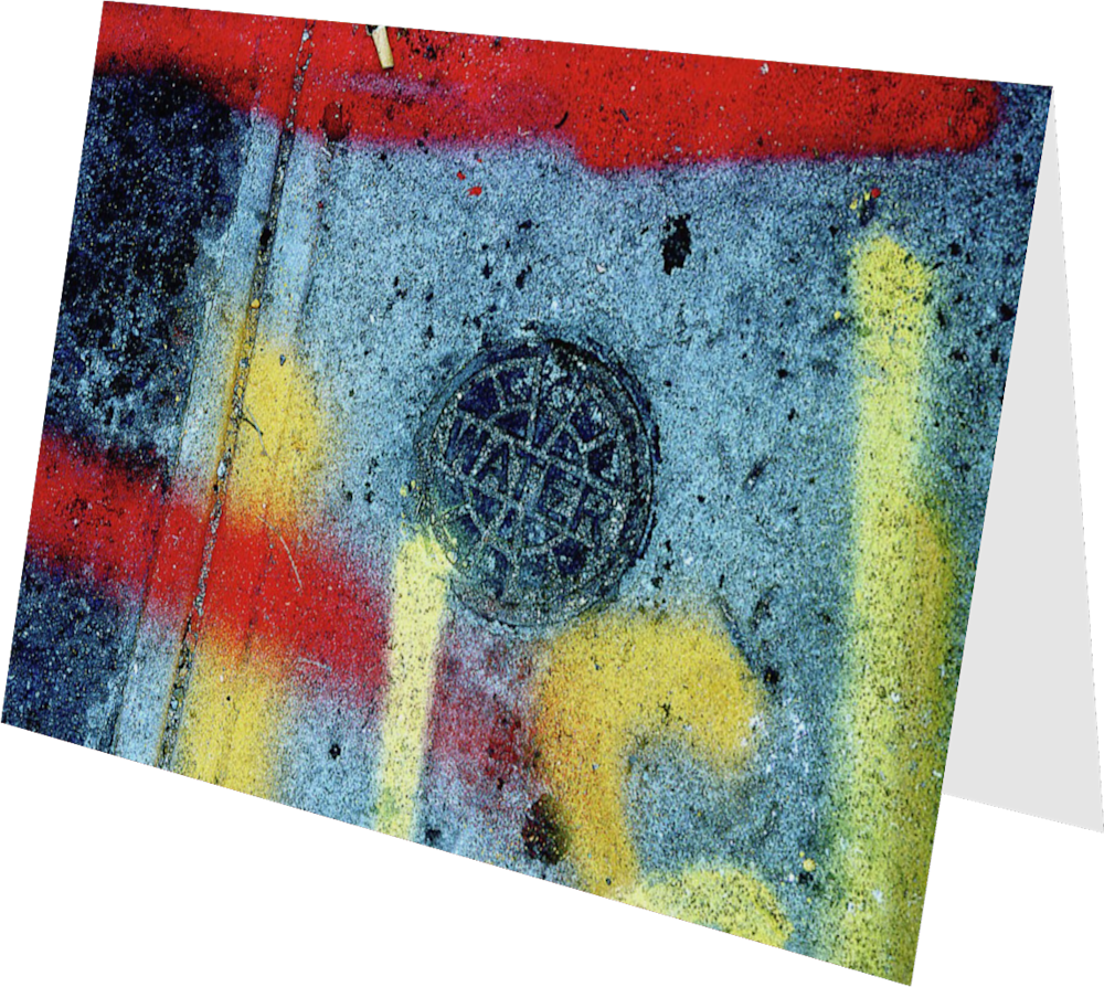 CLOSER NY WATERLINES ACNY034 abstract photography Sherry Mills PRINT 2 GREETING CARD 2