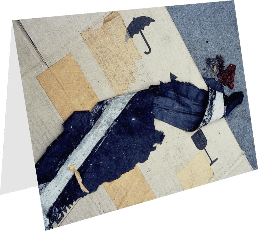 CLOSER NY UMBRELLA ACNY262 abstract photography Sherry Mills PRINT 2 GREETING CARD 1