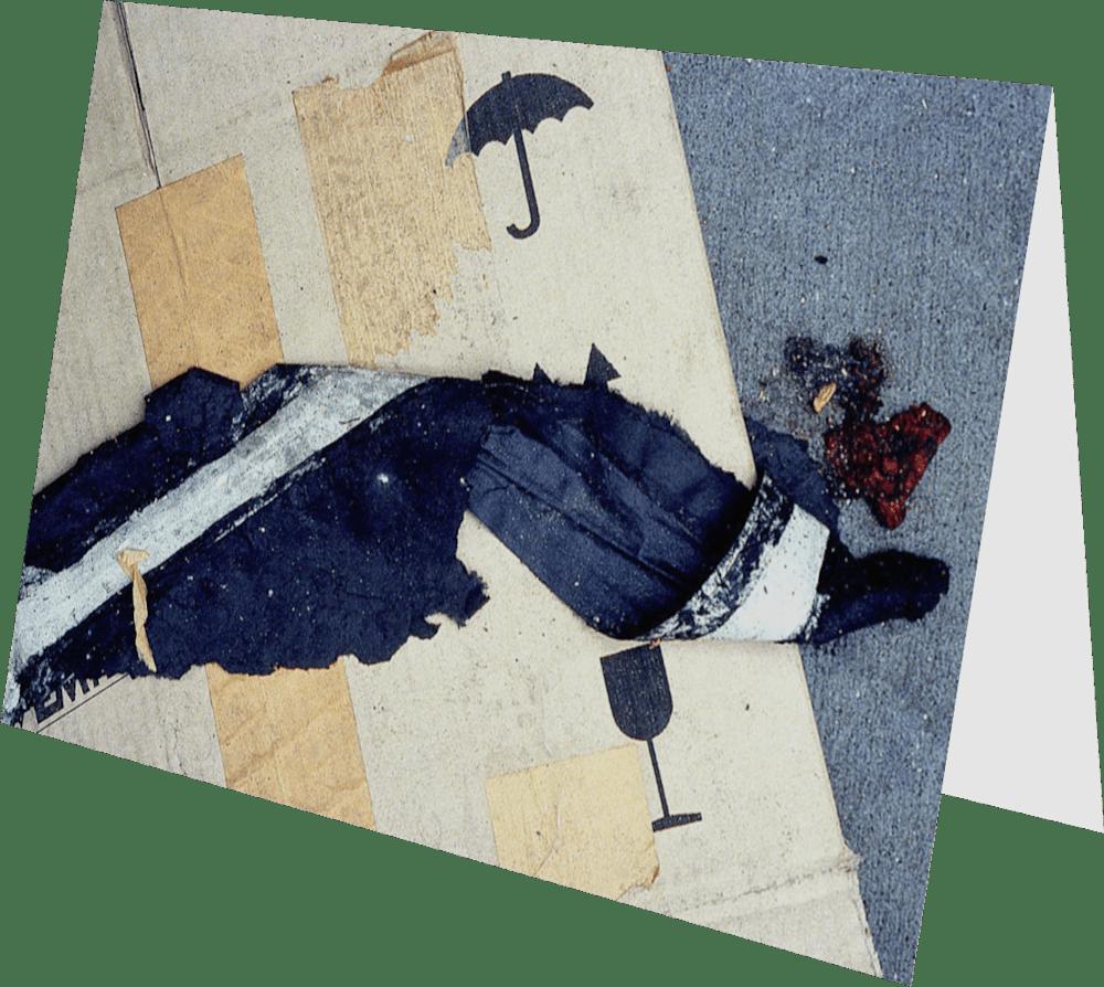 CLOSER NY UMBRELLA ACNY262 abstract photography Sherry Mills PRINT 2 GREETING CARD 2