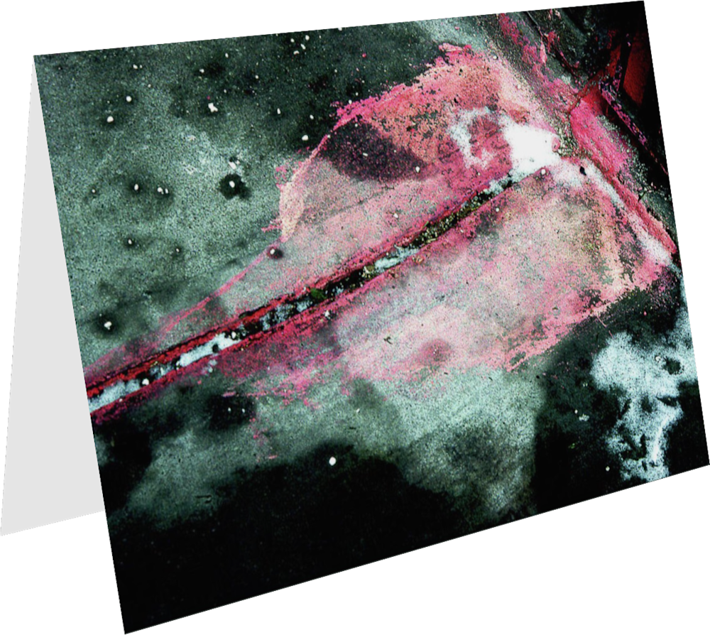 CLOSER NY GROVE STREET PINK ACNY2186 abstract photography Sherry Mills PRINT 4 GREETING CARD 1