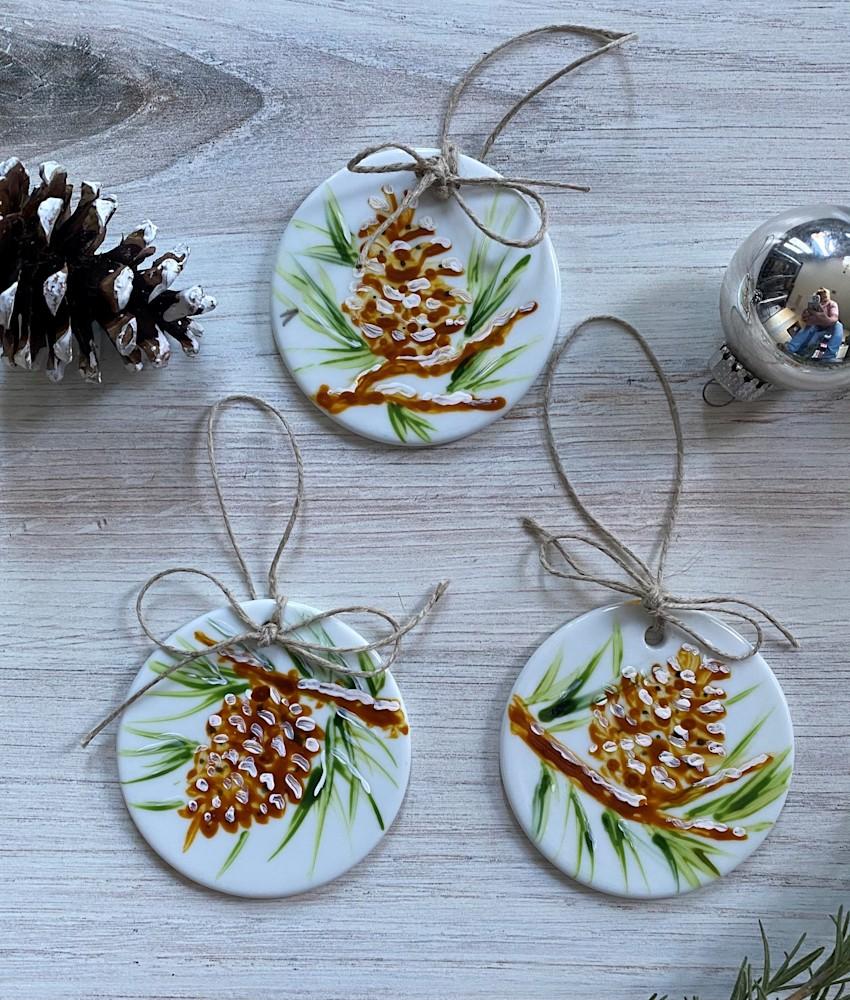 Ornament Pine Cone 1 3