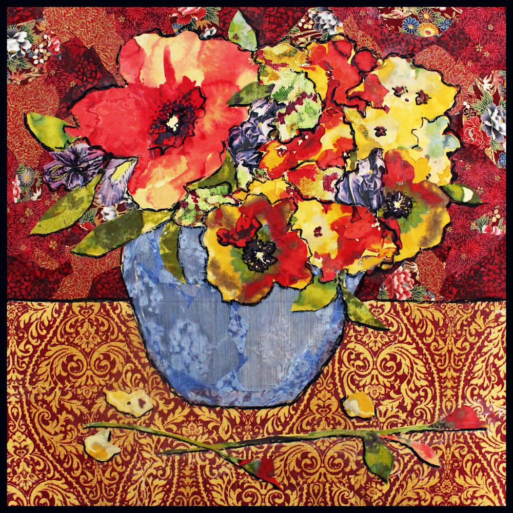Blue Vase Still Life ASF 2 Framed