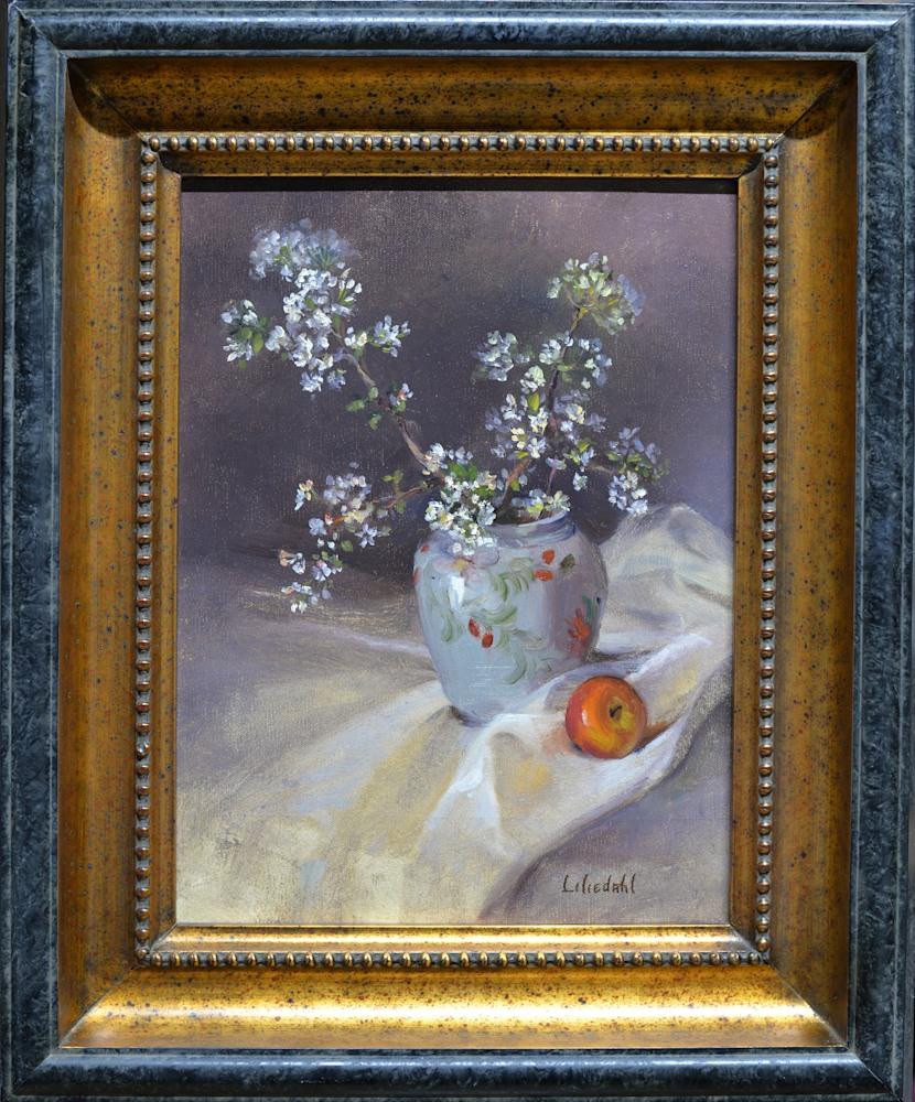 Apple Blossoms and Apple Framed D610
