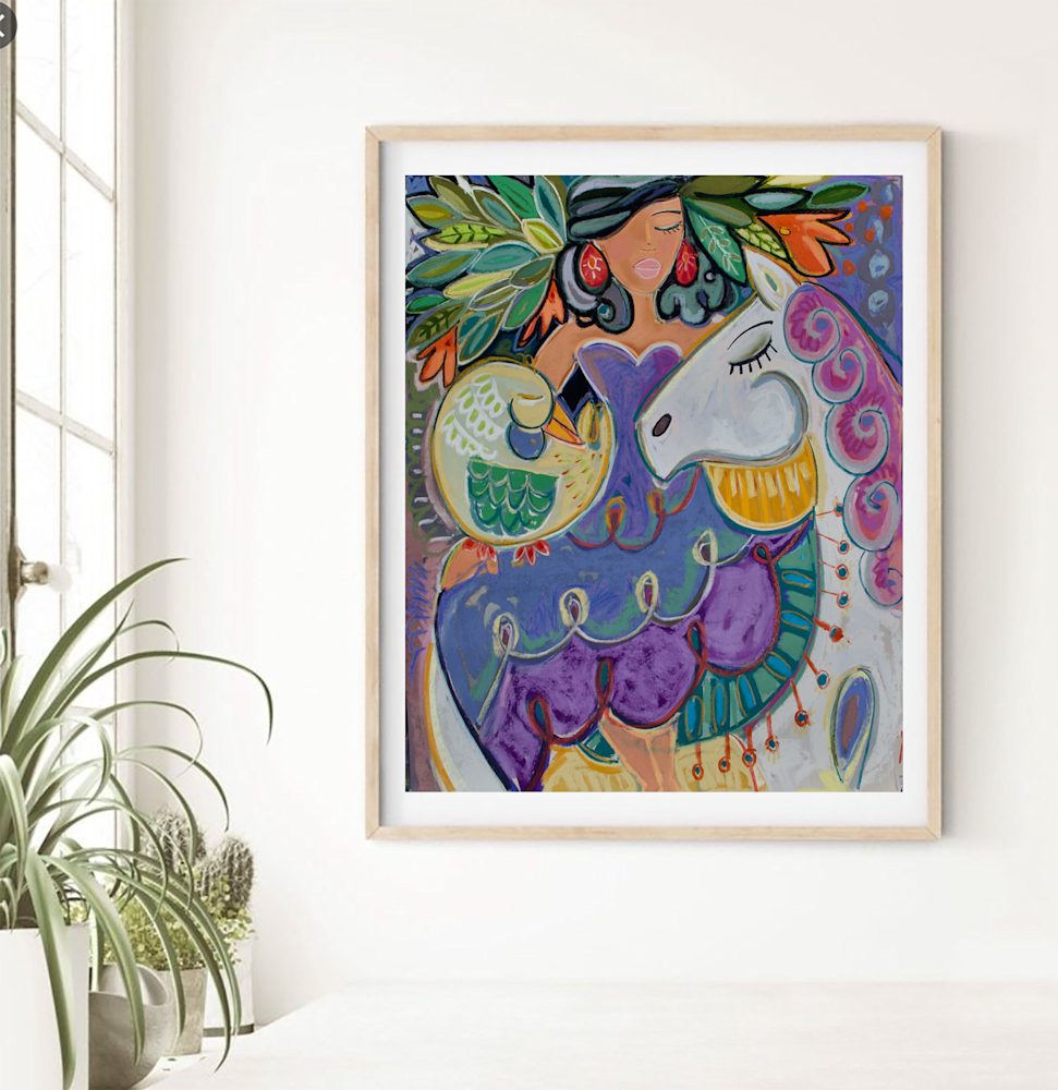 dancing horses wall art