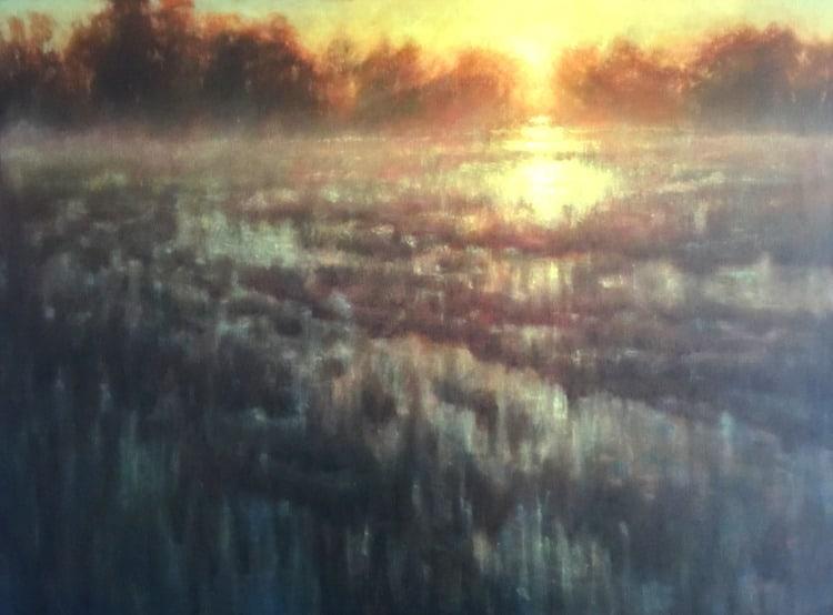 FloodedField 36x48 Oils MichaelOrwick