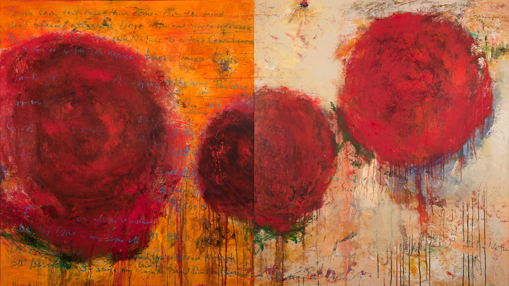 Dogen's Roses (diptych), overall 54x96