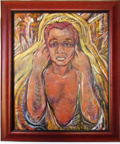 The Silent Scream 2  24x20 in      Acrylic canvas   price 850