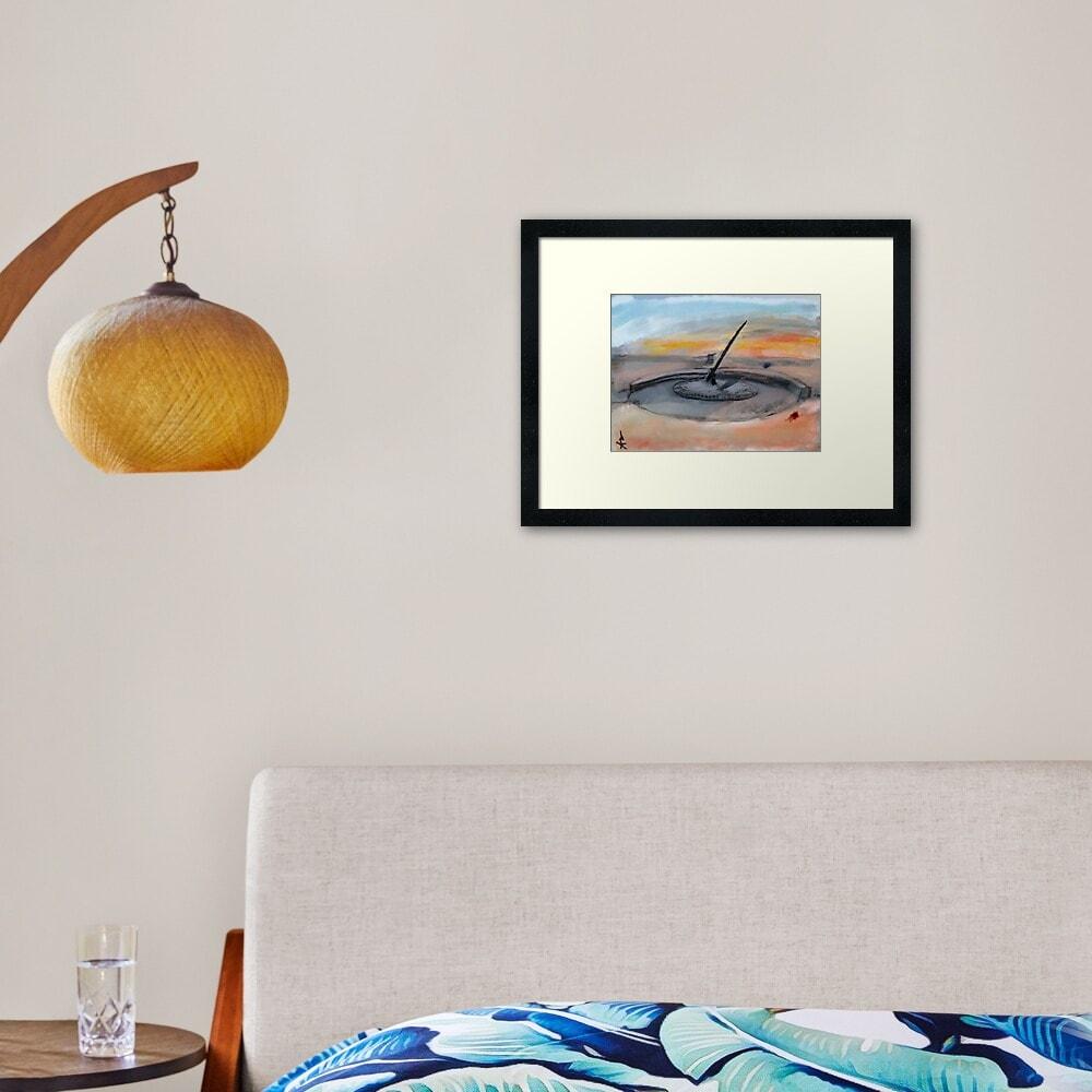 sundialframed art print