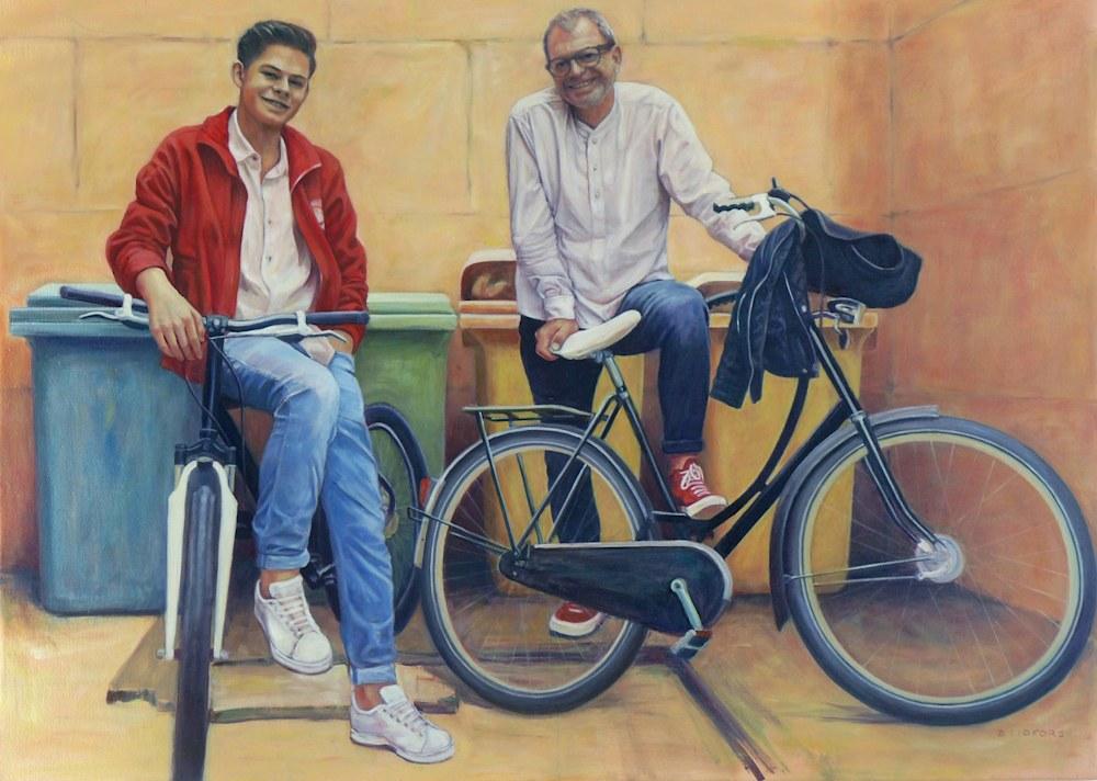 +BARBARA LIDFORS Zwei Männer und zwei Fahrräder   P1060516 ps ce