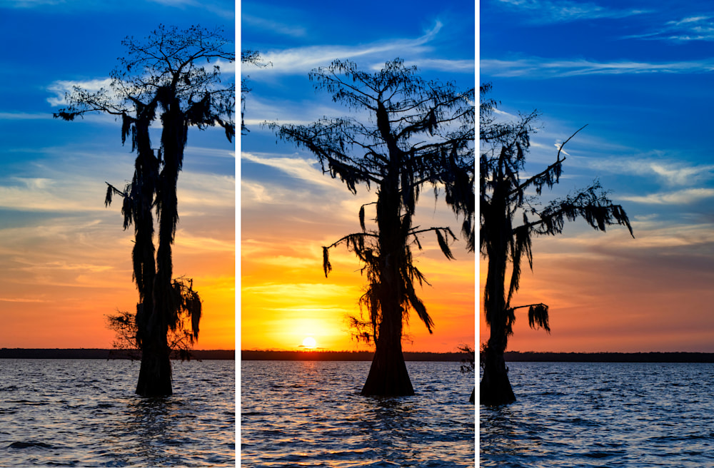 Andy Crawford Photography New Year's Sunset triptych