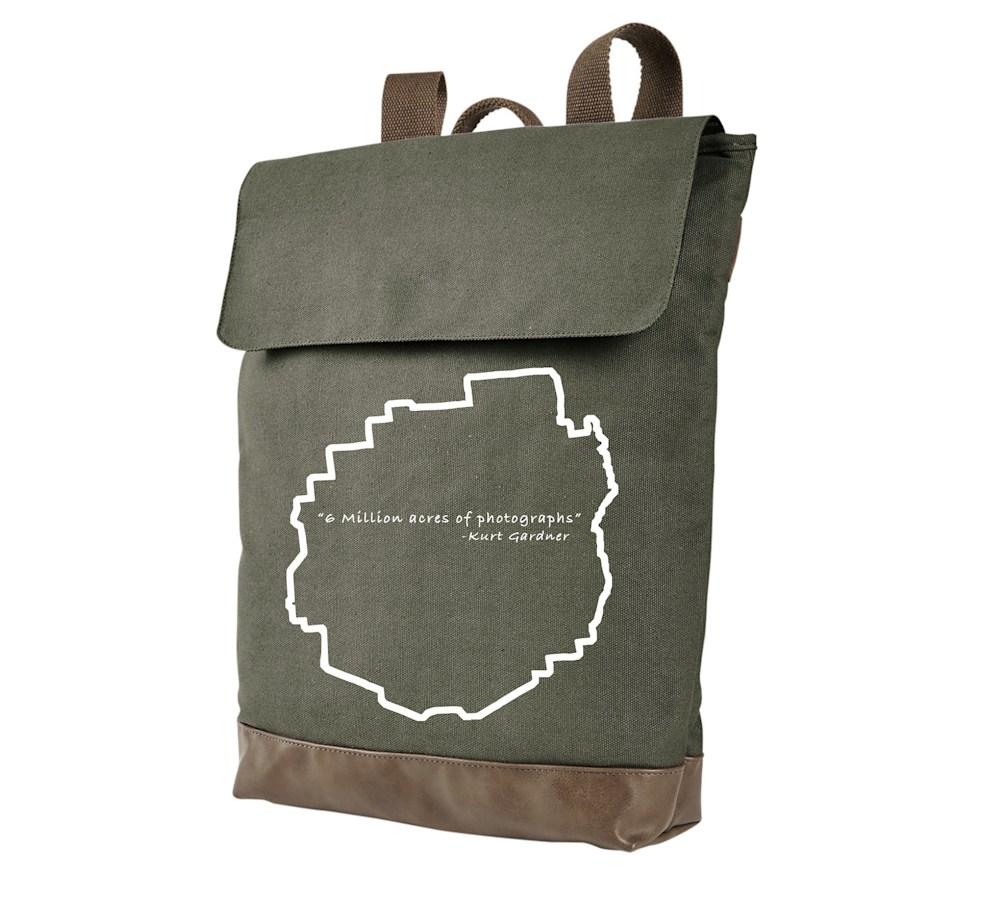 Green backpacks photographs