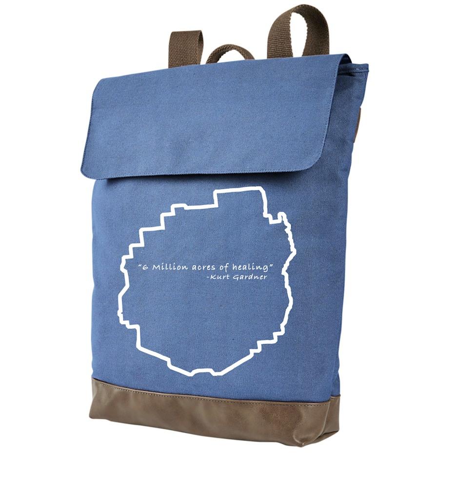Blue backpack Healing
