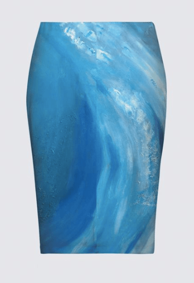 Wave Blue AICHA SKIRT
