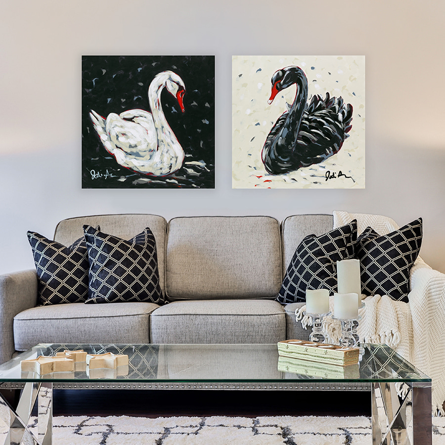 Jodi Augustine Black White Swan mockup