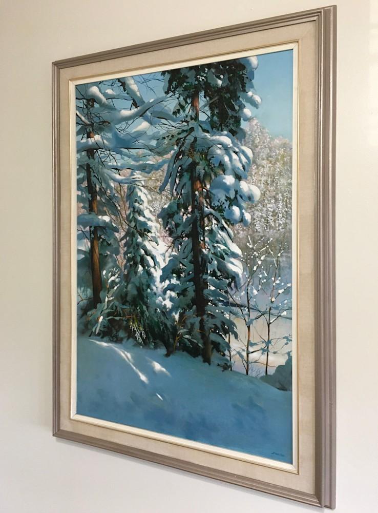 Hiawatha winter 2 framed on the wall