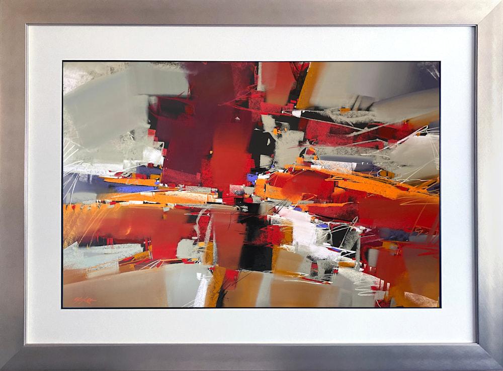 Scarlet Cacophony framed