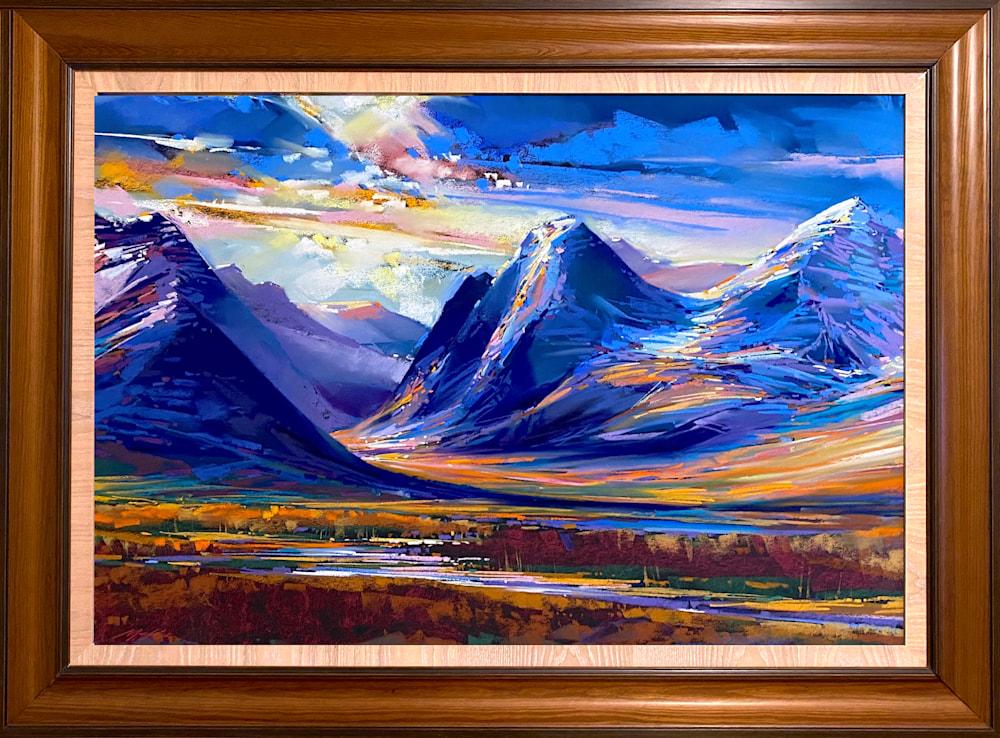 Teton Indigo framed