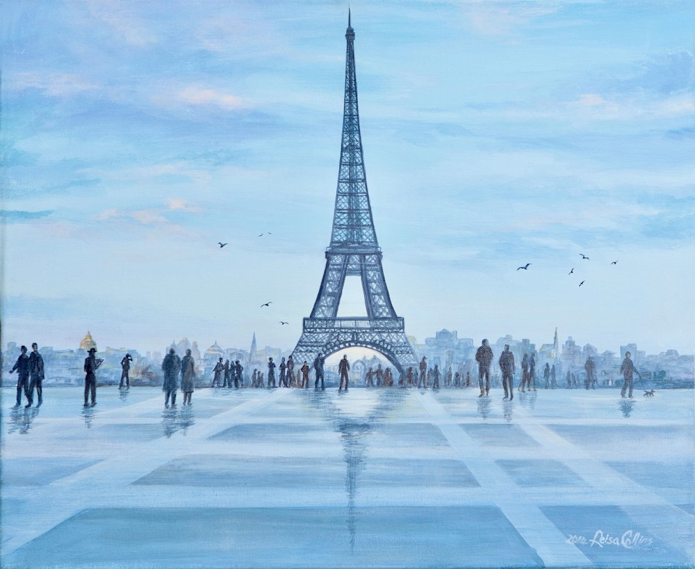 Rainy Day at Eiffel Tower