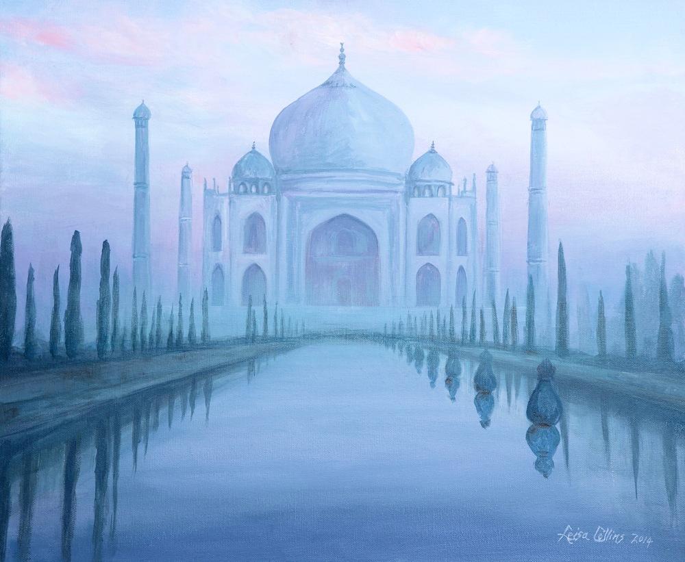 Taj Mahal through the Mist