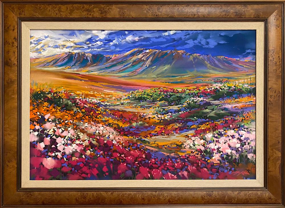 spring desert Bloom framed