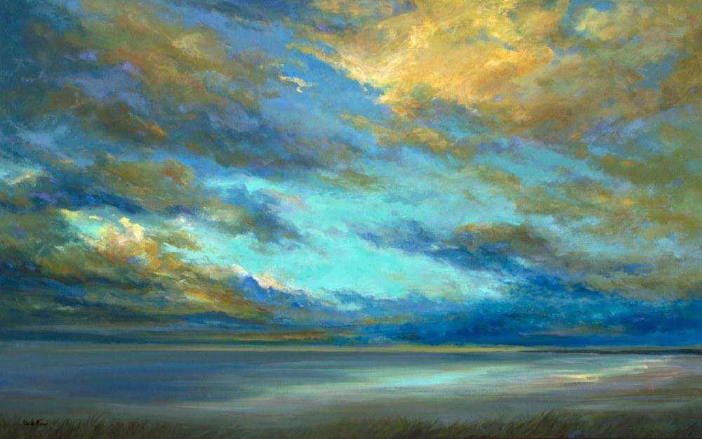 4497 coastal clouds 34 30x48 oil