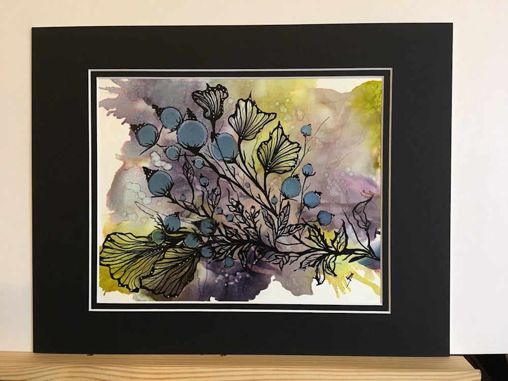 Berry Sprig matted
