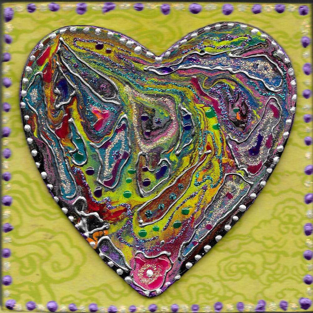 Mardi Gras Heart