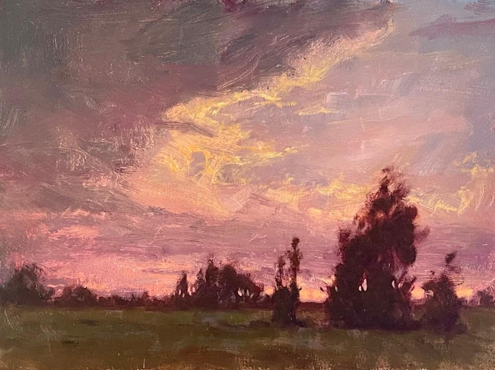 1 2021 Undulant Clouds 9x12 oils Birchpanel Michael Orwick