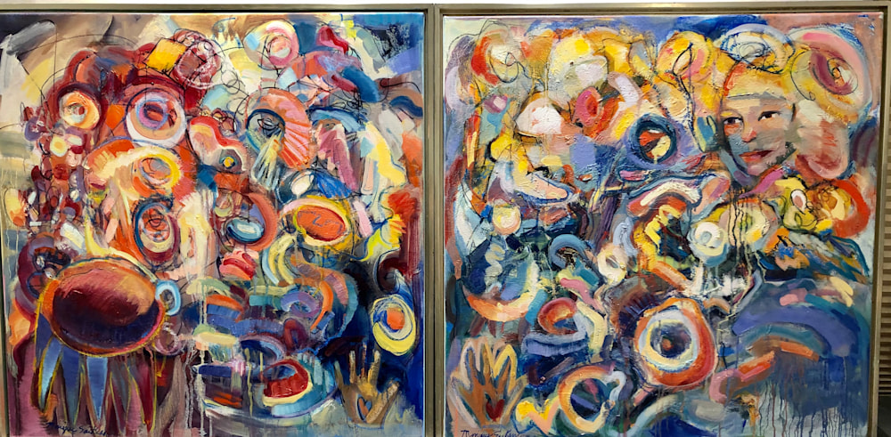 Antithesis of Myth 18 and 19, oil on canvas, 30x30
