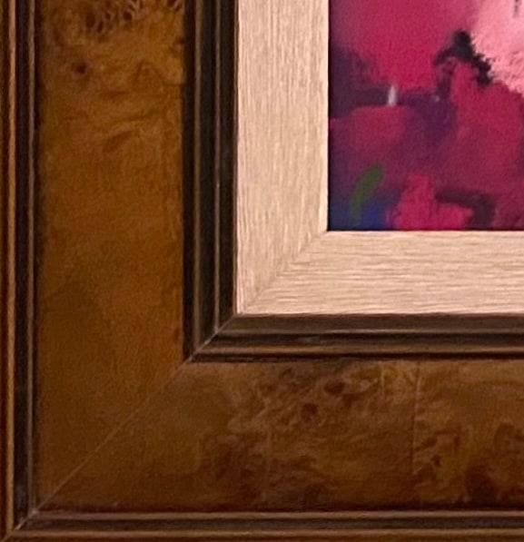 Brown Burl frame corner