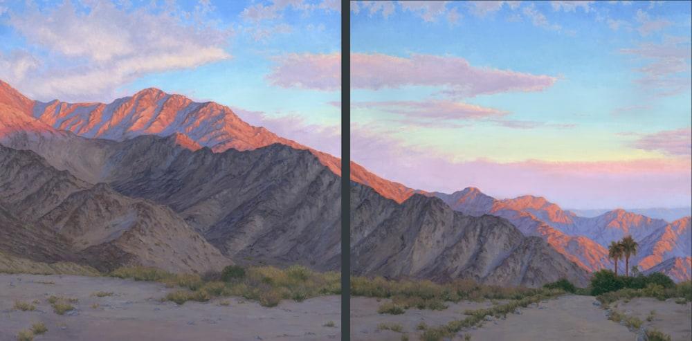 Diptych Desert Sunrise