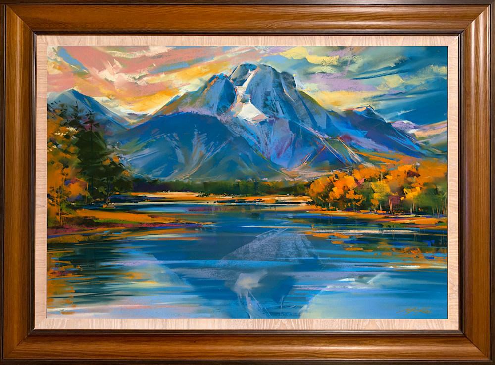 Jackson Lake framed