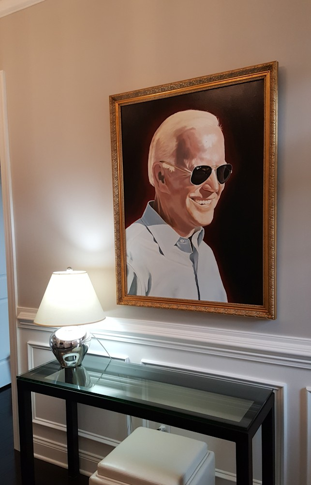 Framed Portrait of Joe Biden