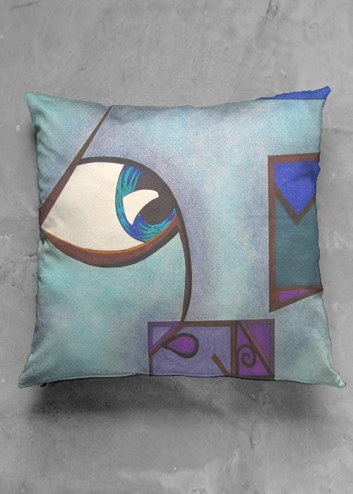 Gods Water square pillow case