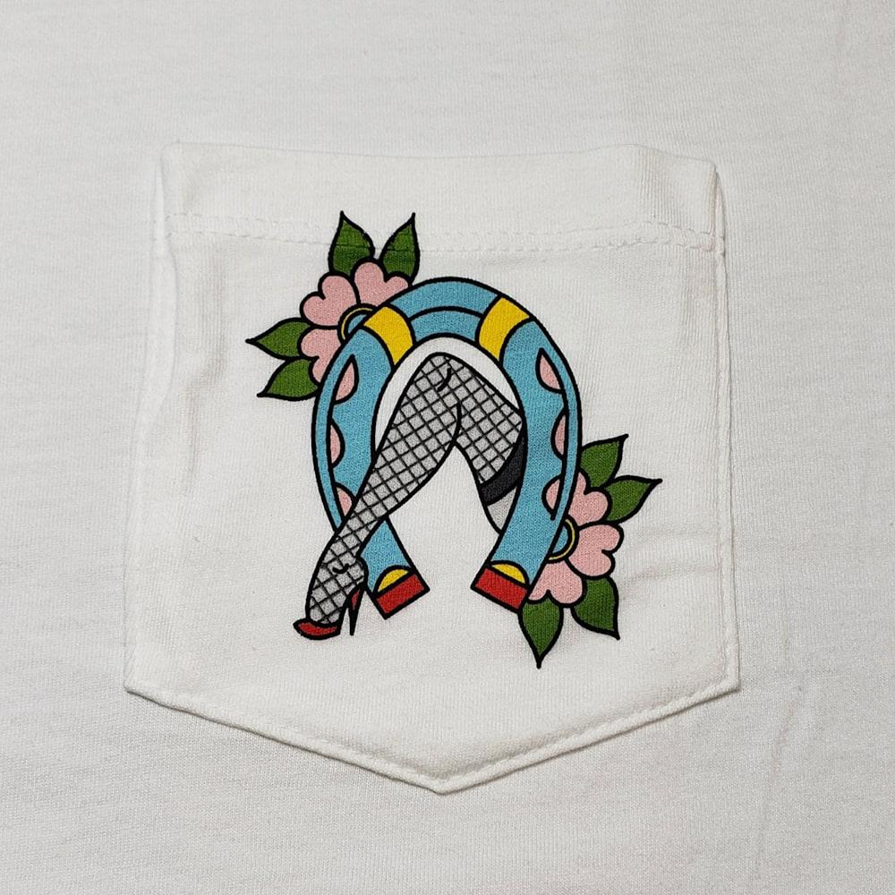 Luckdangit Horseshoe Tee Pocket