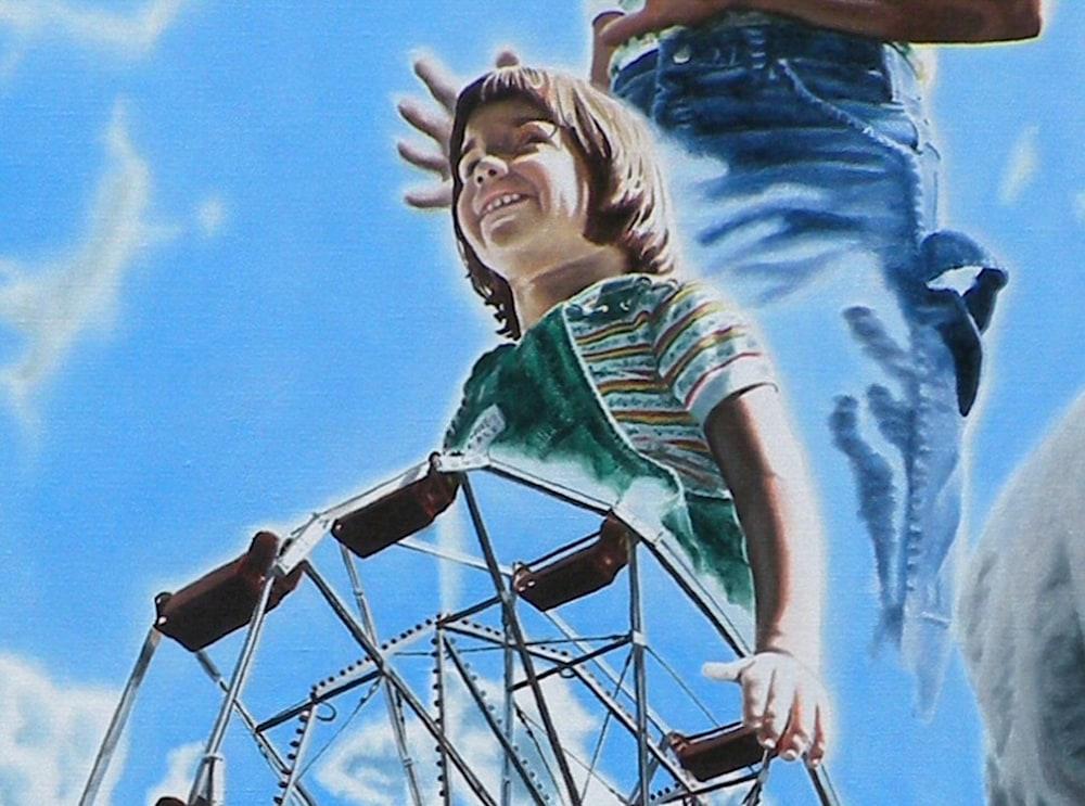 Ferris Wheel and Child