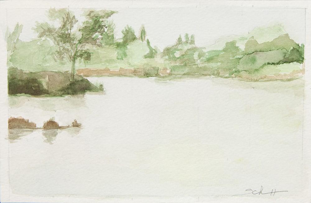 Pond Morning Foggy