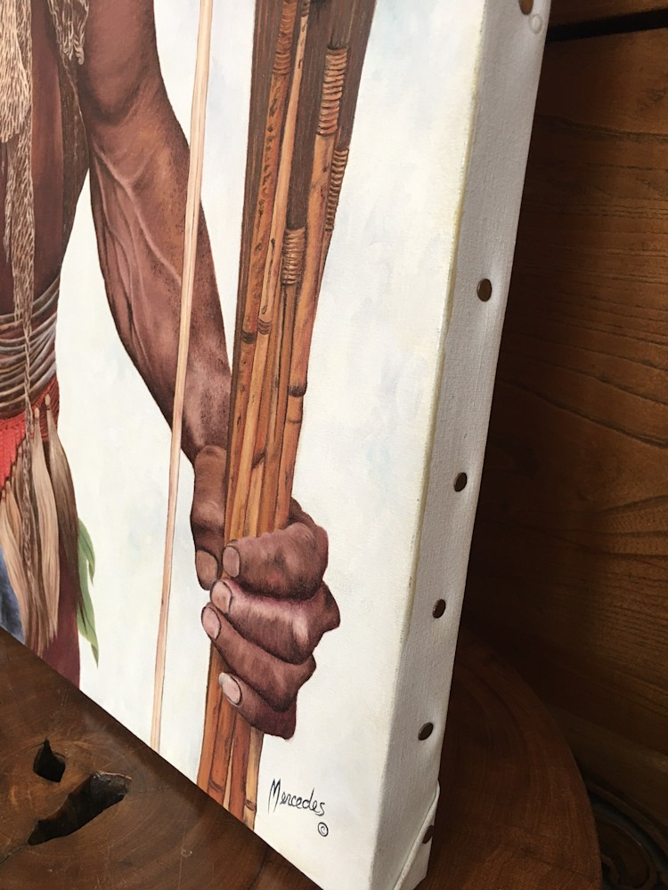 NewGuineaMan sideedge  with hand and signature