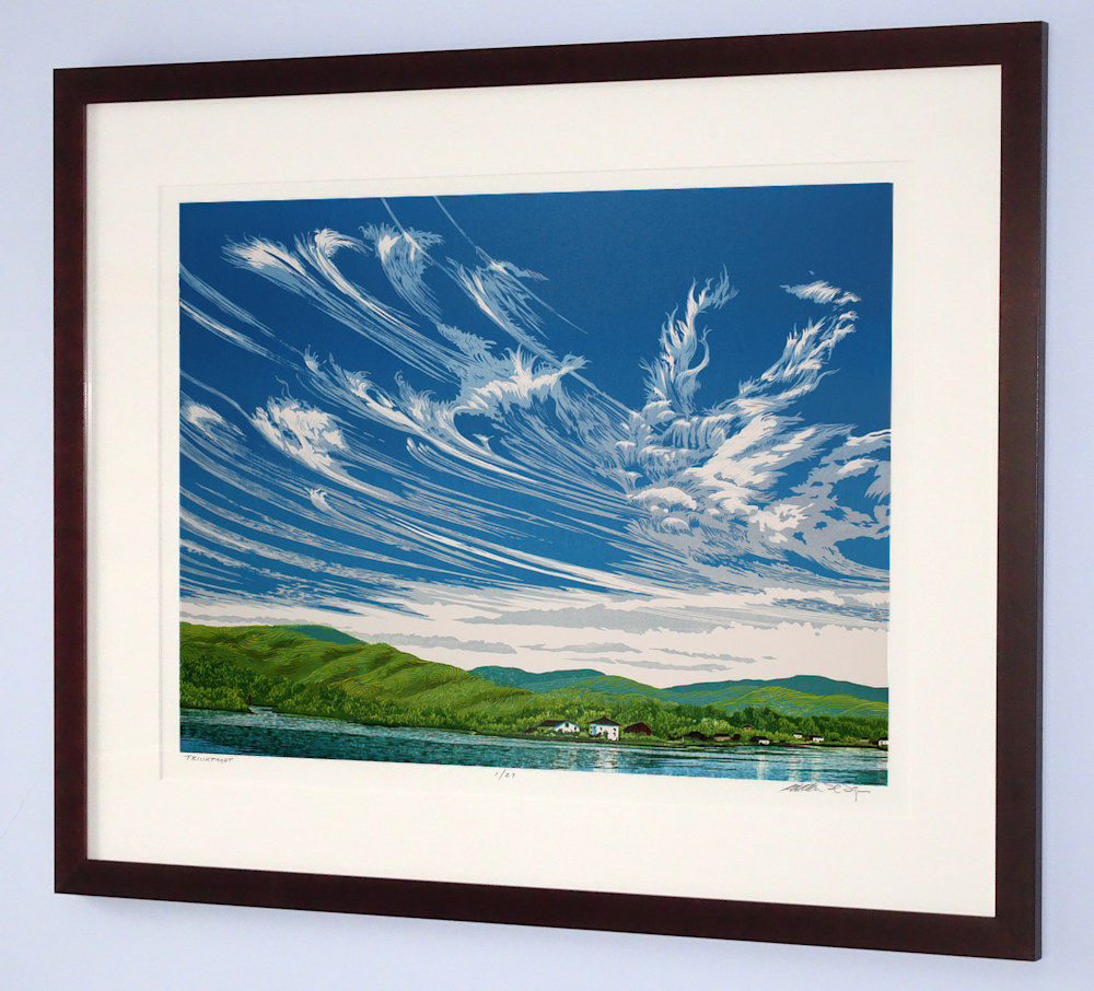 Cirrus Sky Framed