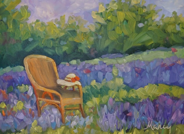 SITTING IN LAVENDER small