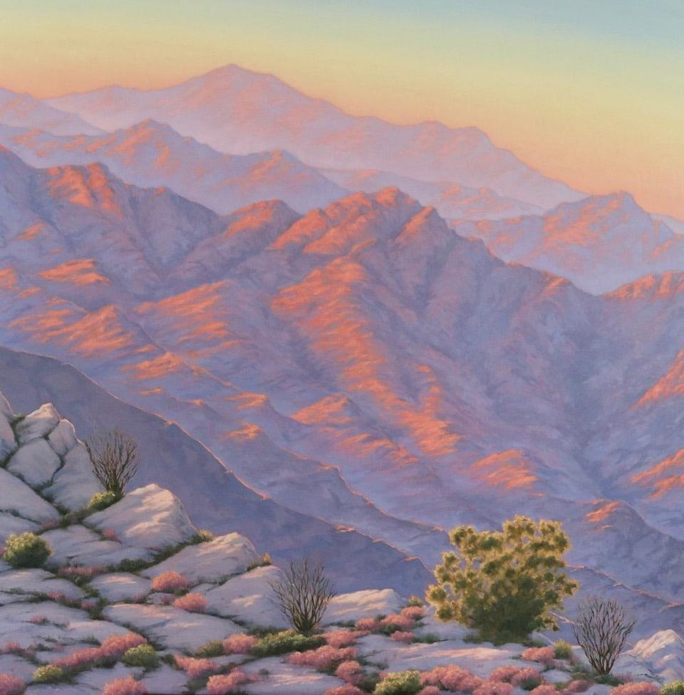 Desert Sunset from Mt