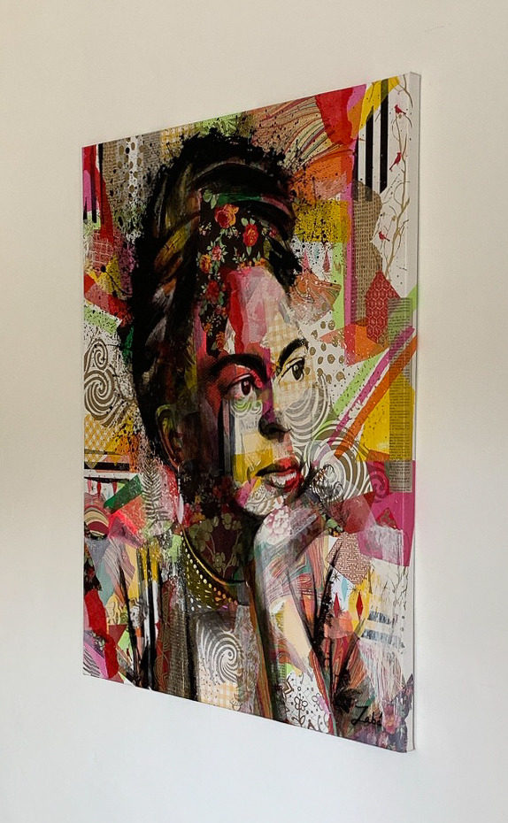 24x30 zabe arts collage painting tranche 2