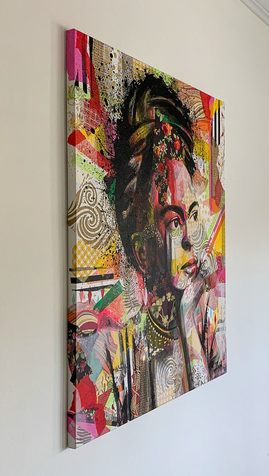 24x30 zabe arts collage painting tranche 1