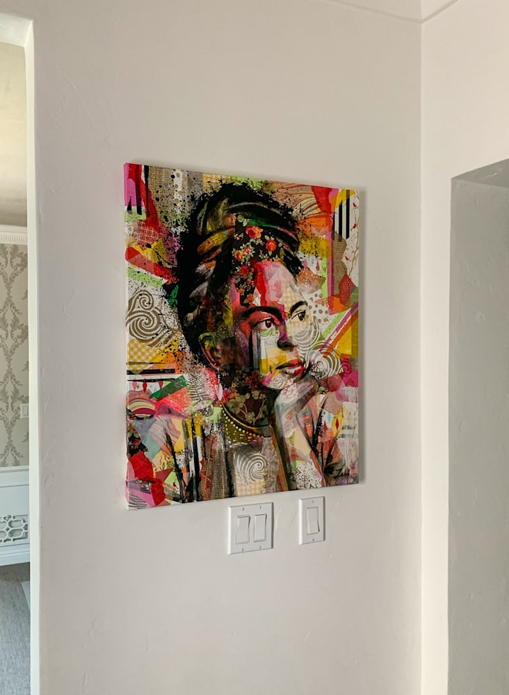 24x30 zabe arts collage painting wall