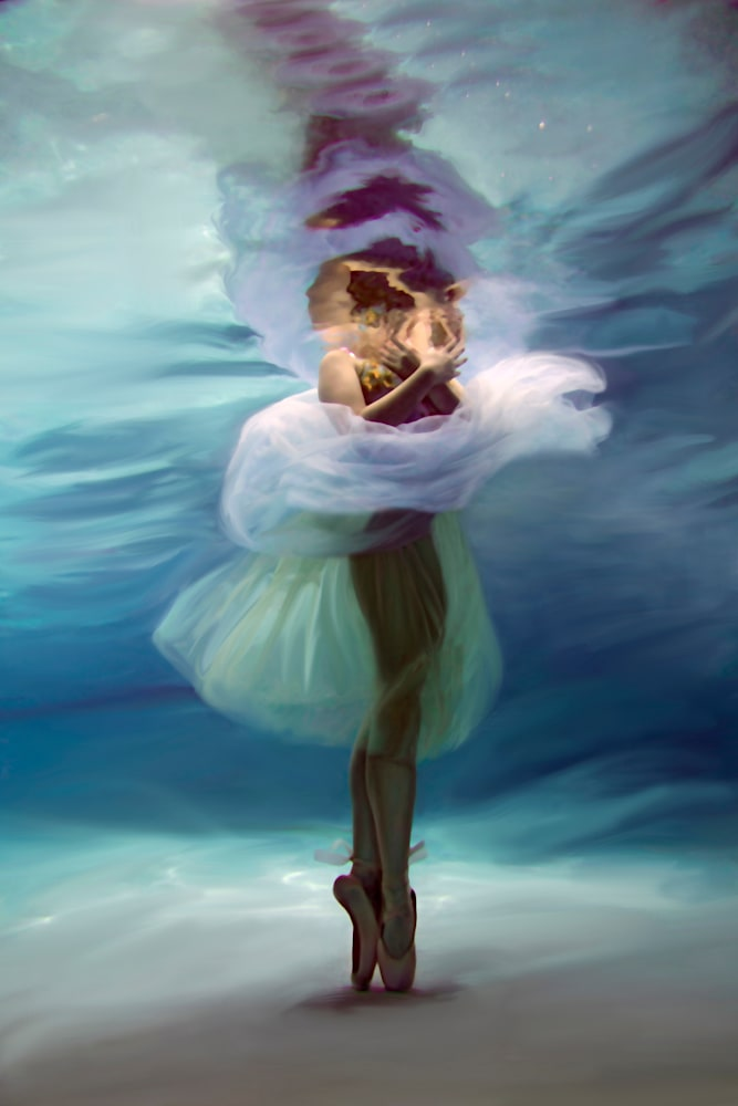 Suzanne Barton  En Pointe 24x36 Infused on Metal �2500