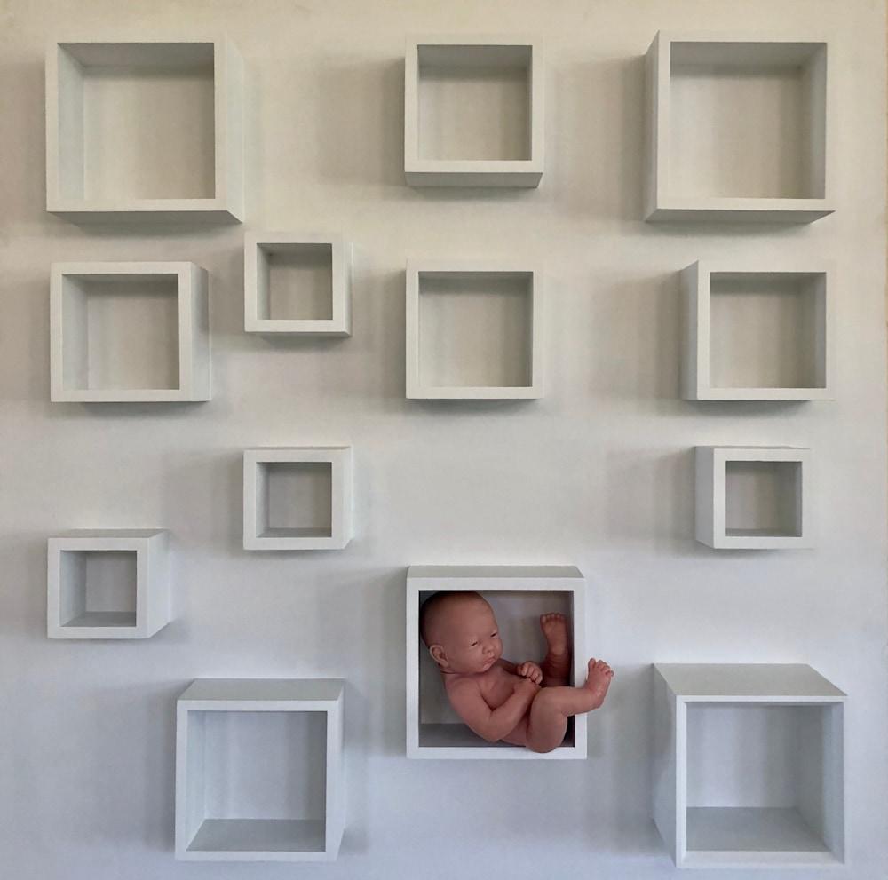 Barbara Ziev Classification Wood Assemblage 42 x 42 $2500