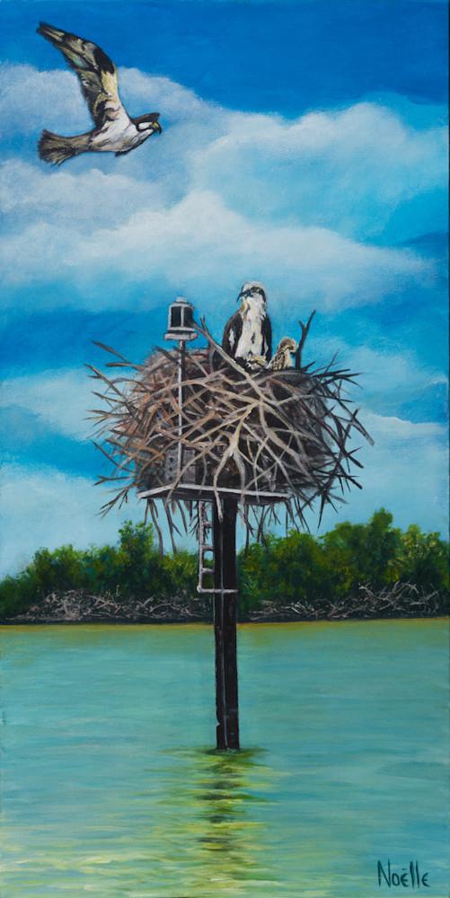 Noelle McCarthy Home Sweet Osprey Acrylic 12x24 $475
