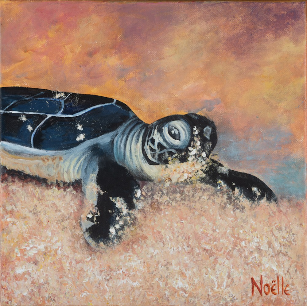 Noelle McCarthy Turtle Determined Acrylic 12x12 $230